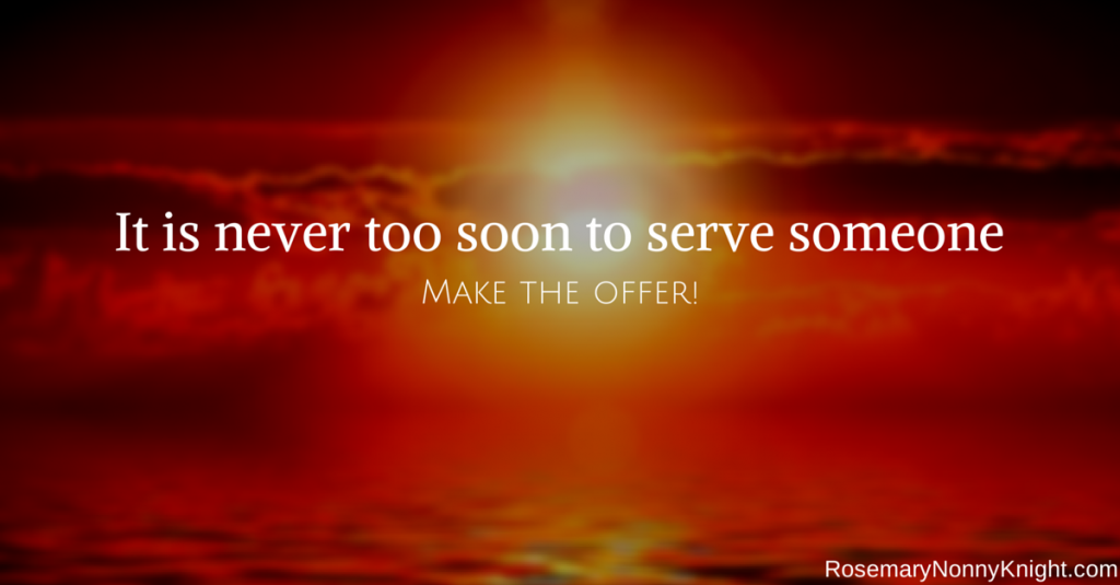 MAke The Offer, Serve Someone