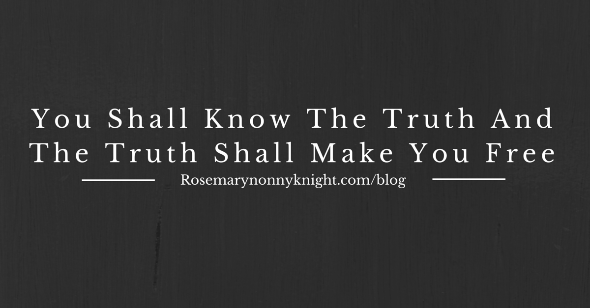 know the truth and the truth shall set you free