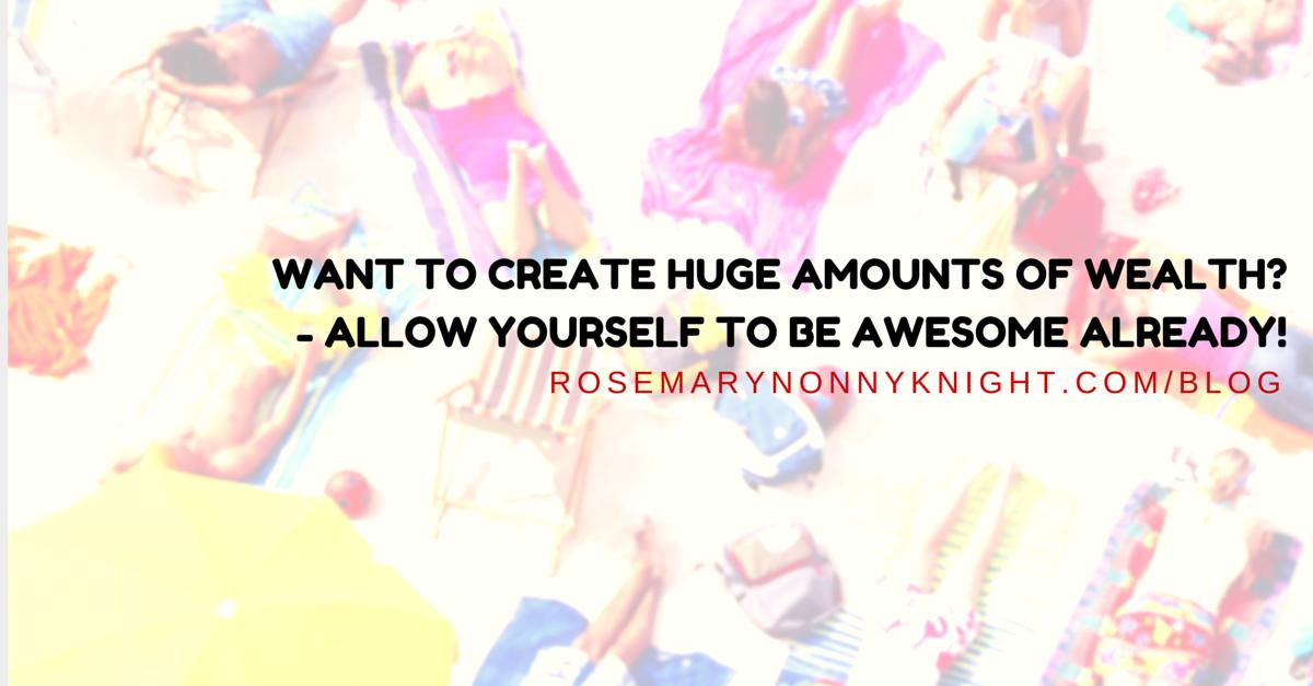 WANT TO CREATE HUGE AMOUNTS OF WEALTH- -