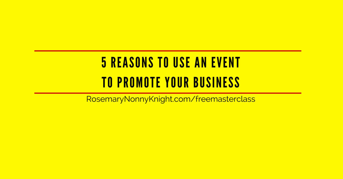 Use an event to promote an business