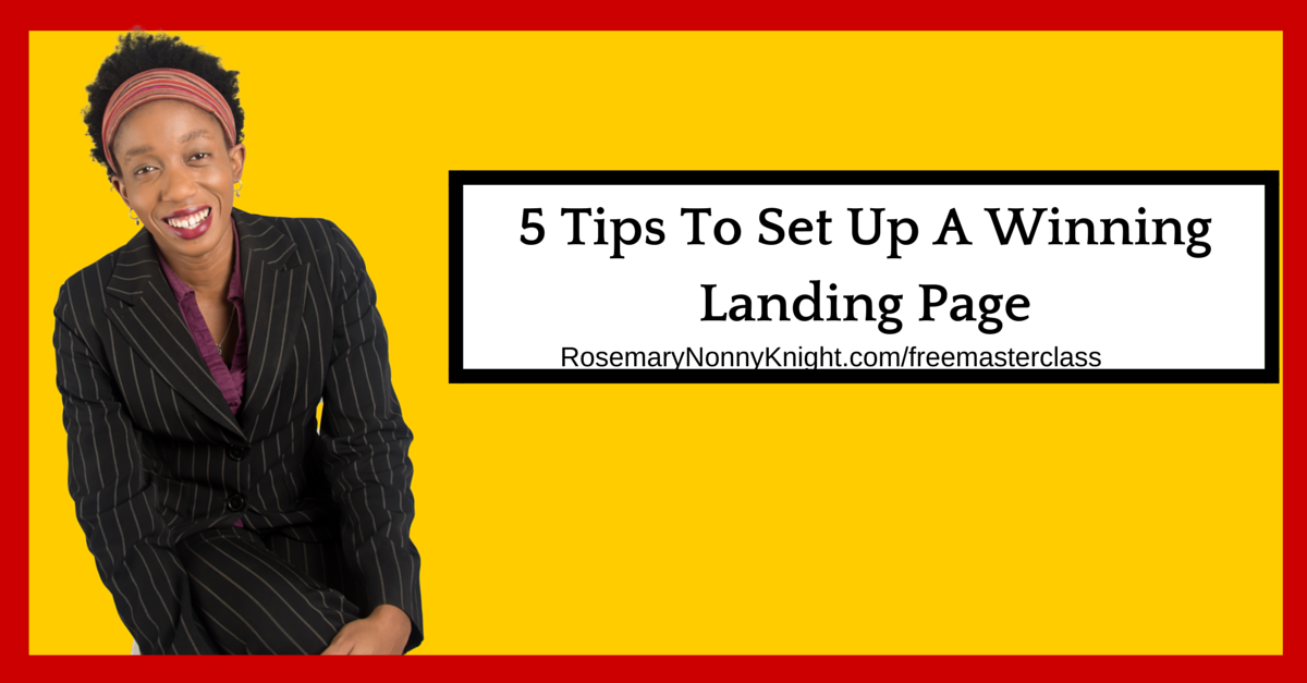 5 Tips To Set Up A Winning Landing Page
