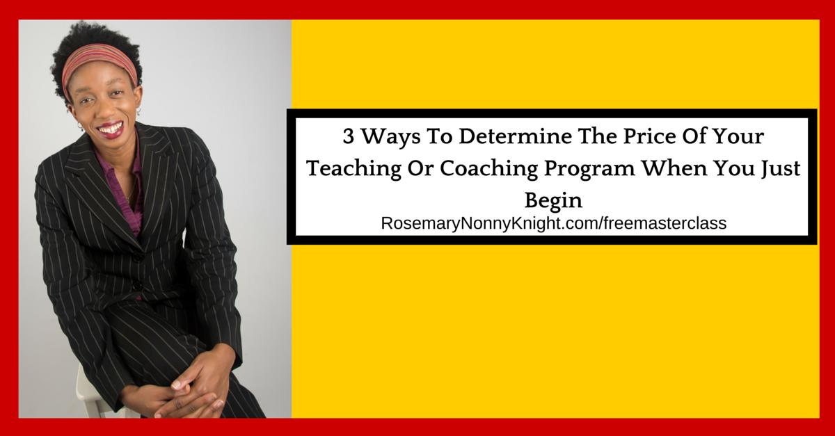 Be a coach, pricing, coaching program