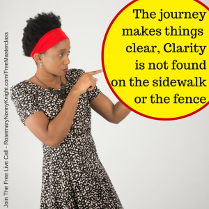 Clarity is not found on the fence or the sidewalk