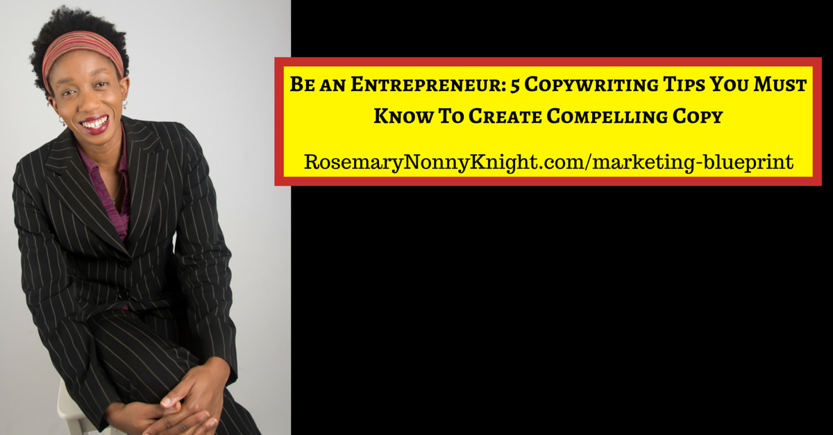 Be an Entrepreneur, Copywriting