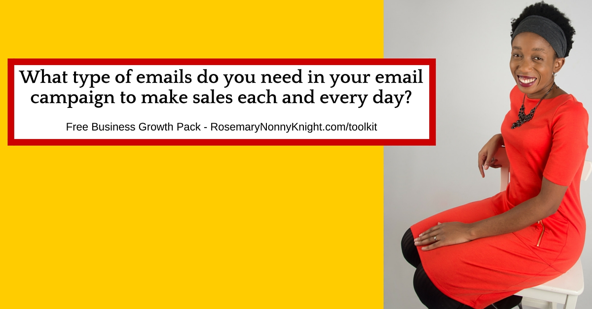 Email marketing Campaign, make sales every day