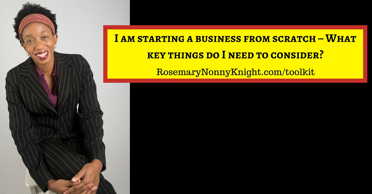 Starting a business from scratch