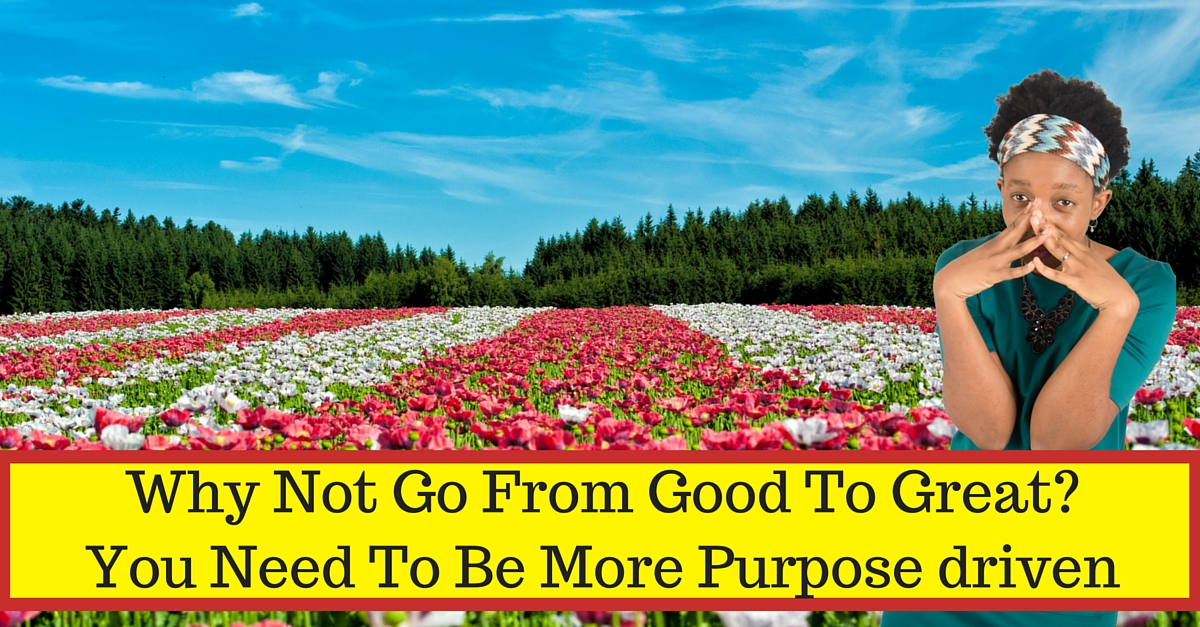 Why Not Go From Good To Great? You Need To Be More Purpose driven