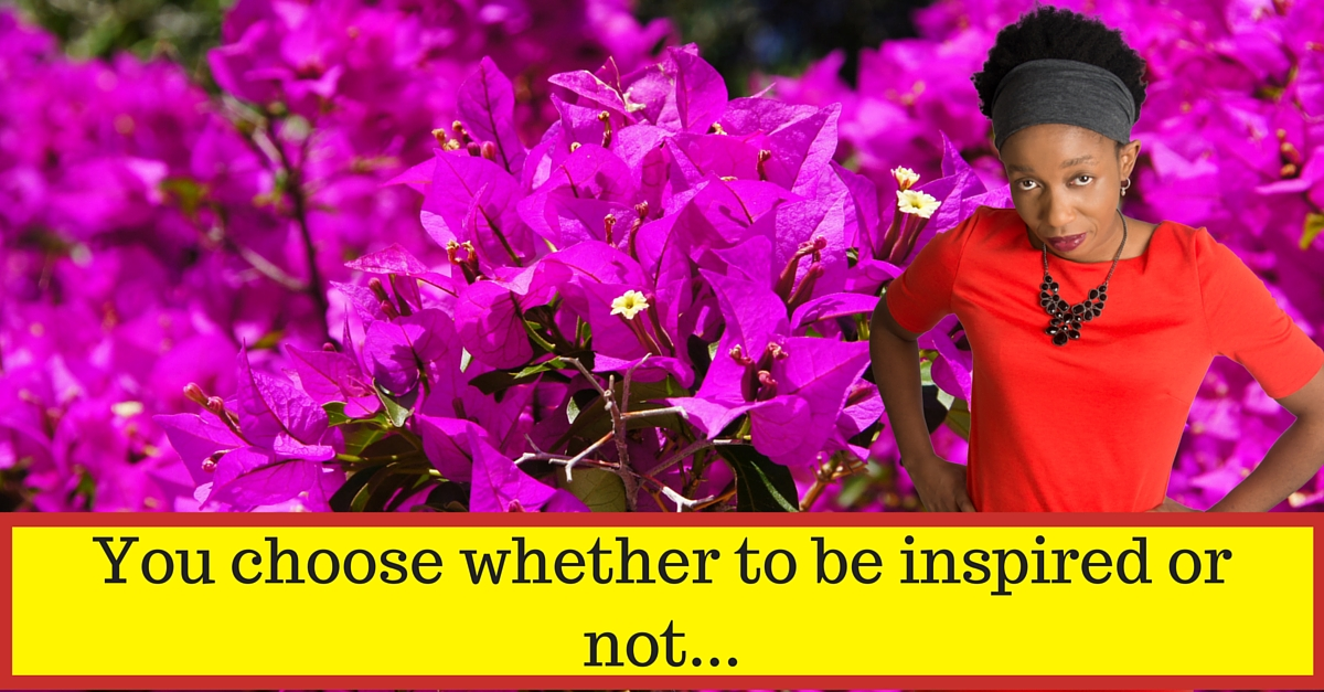 You choose whether to be inspired or not…