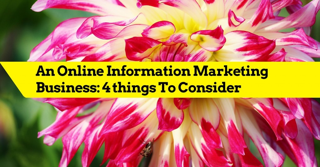 An Online Information Marketing Business: 4 things To Consider