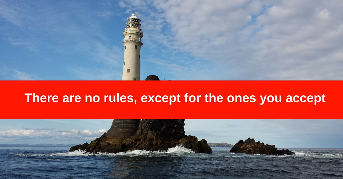 There are no rules, except for the ones you accept