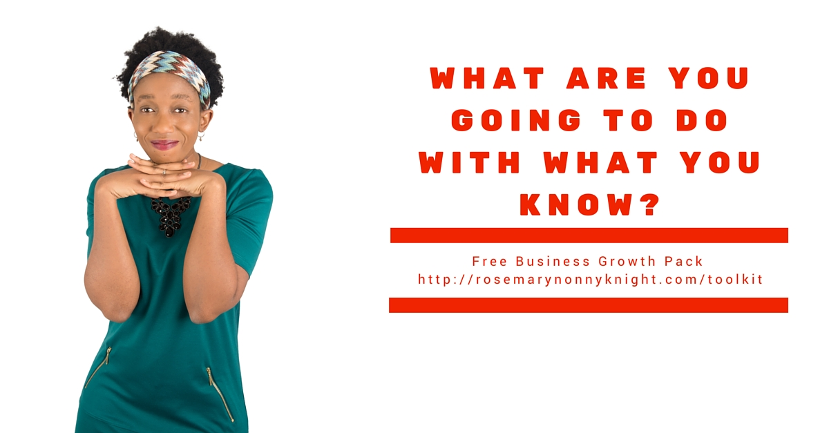 What Are You Going To Do With What You Know? Three ways to get your message out