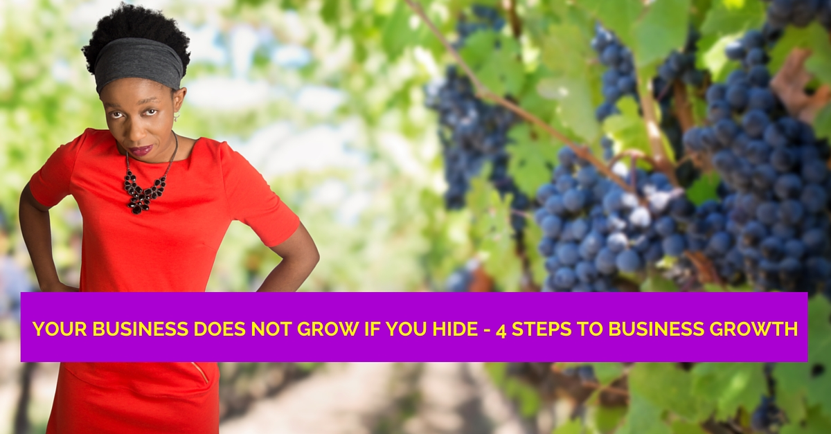 Your Business Does Not Work If You Hide! 4 steps to business growth