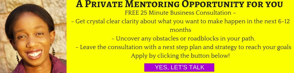 A Private BUsiness Mentoring Opportunity for you