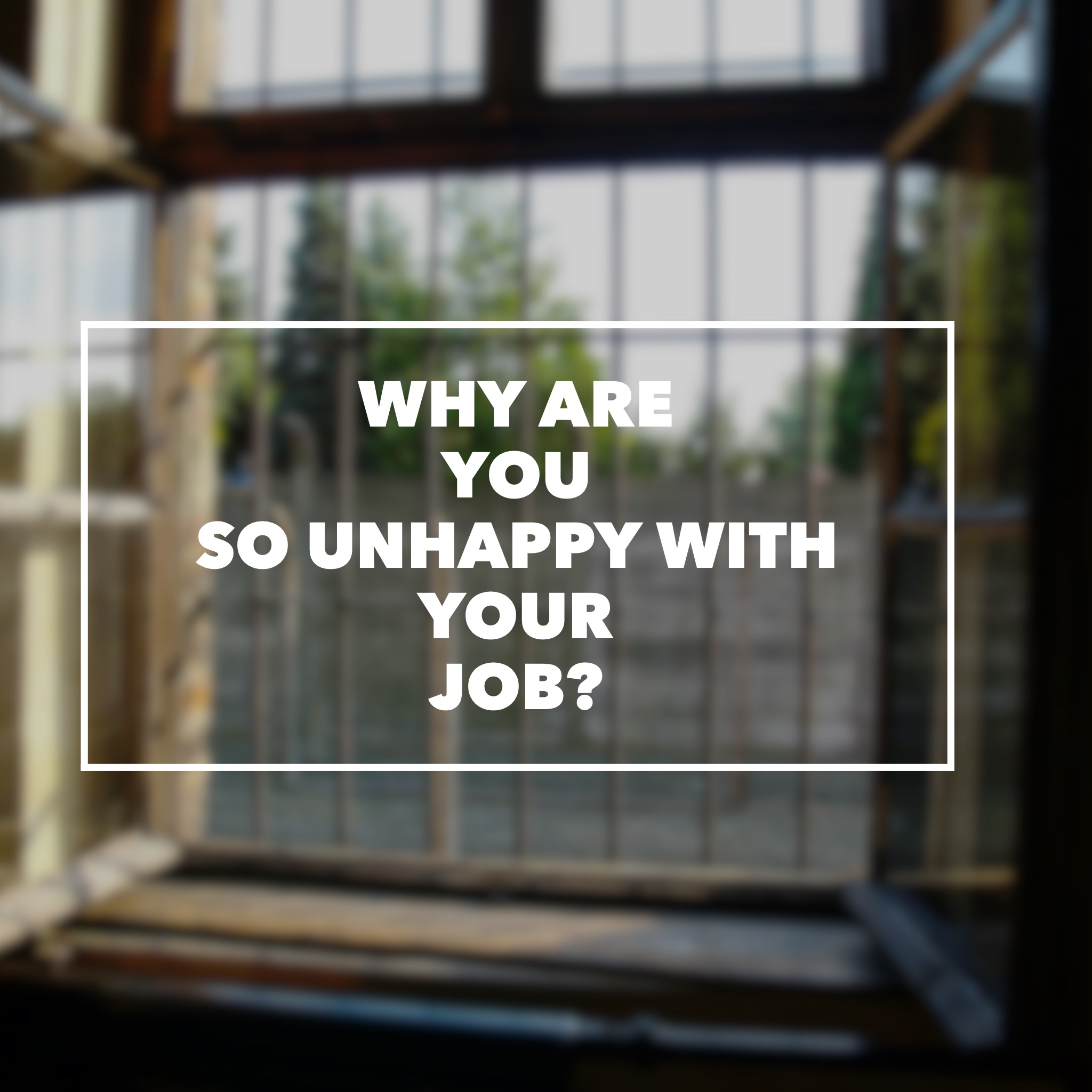 Why Are You So Unhappy With Your Job