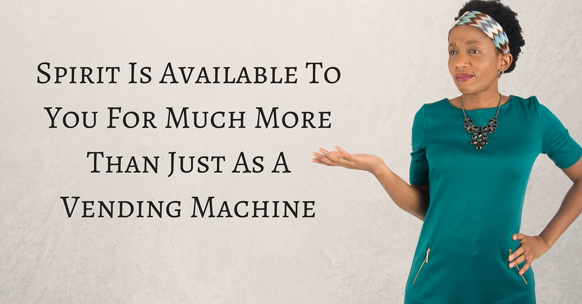 Spirit Is Available To You For Much More Than Just As A Vending Machine – Mp3/Video