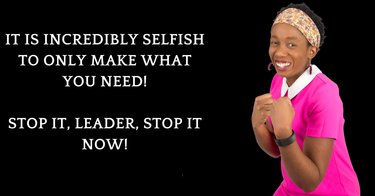 Stop Being So Selfish!