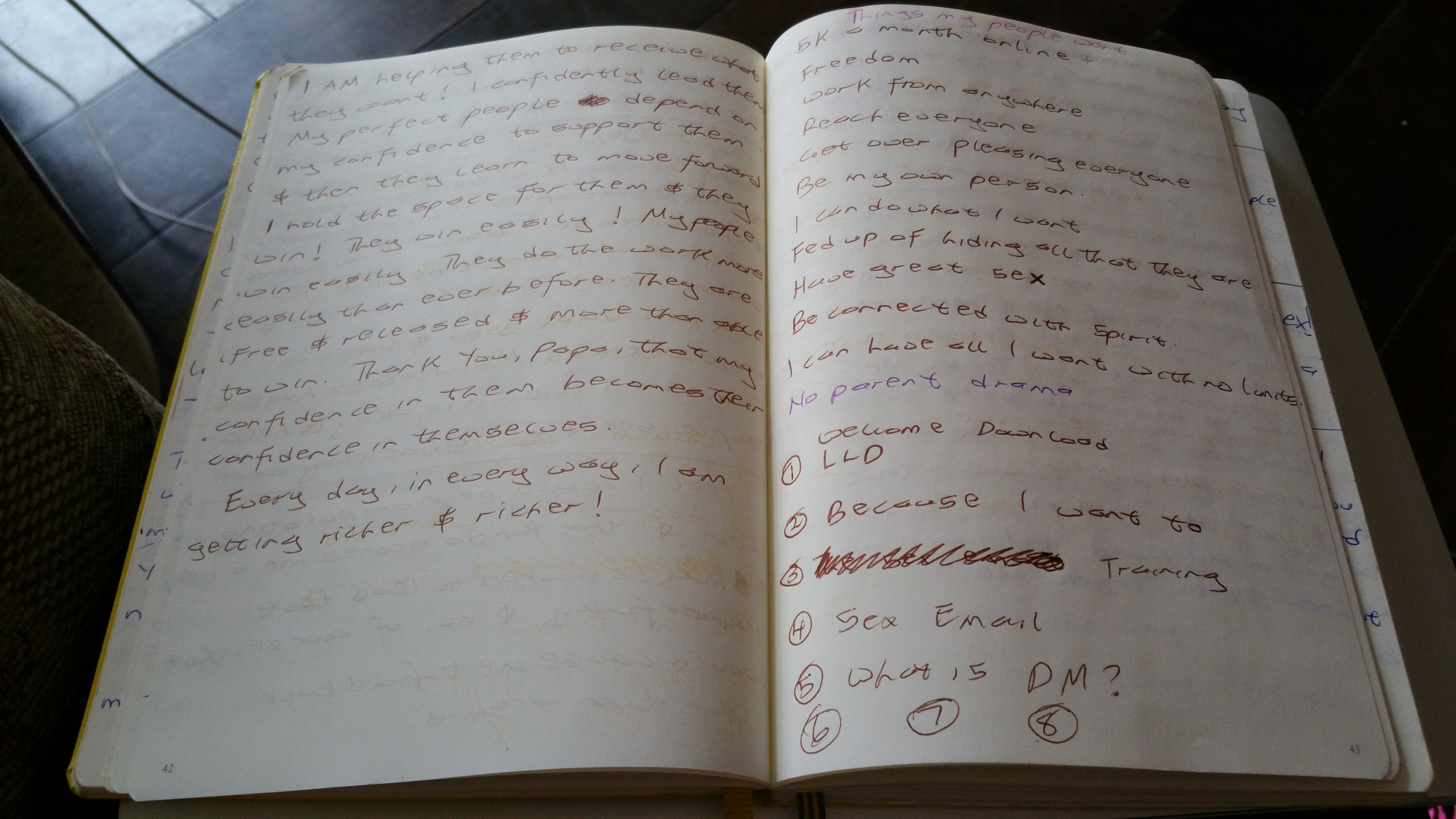 Journalling – The Power Of Writing Of My Vision Into Life!