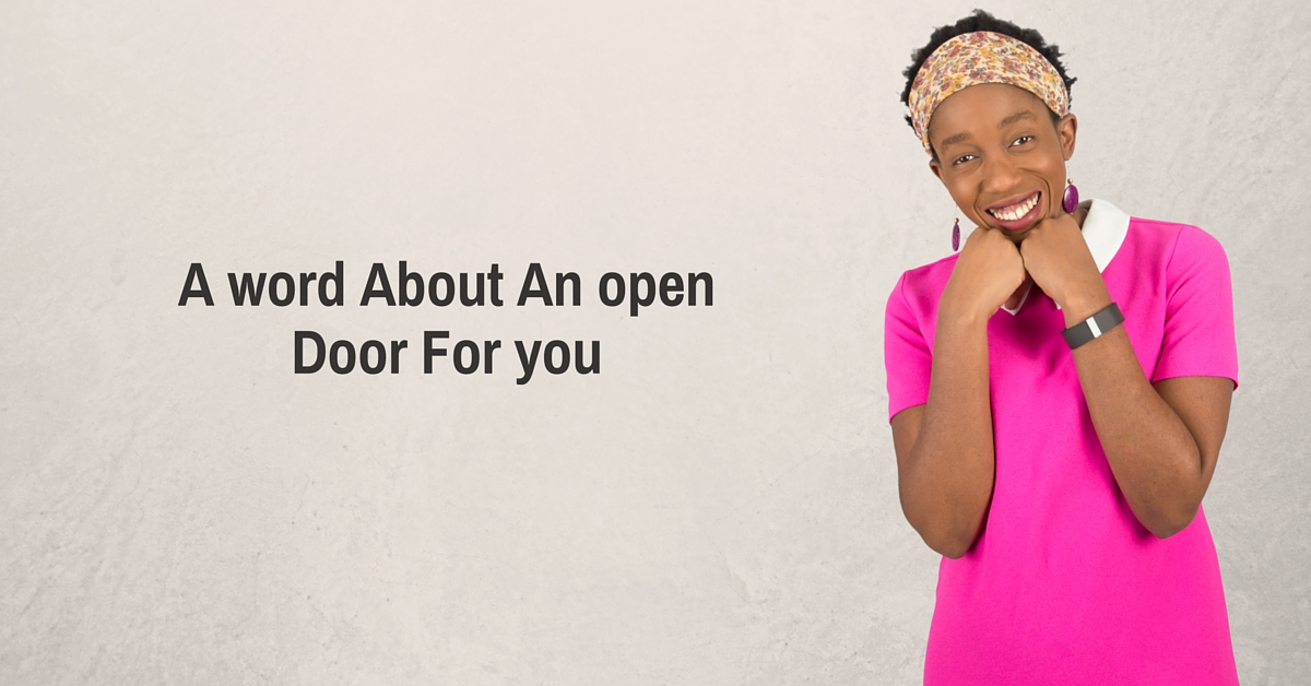 A word About An open Door For you – Mp3/Video