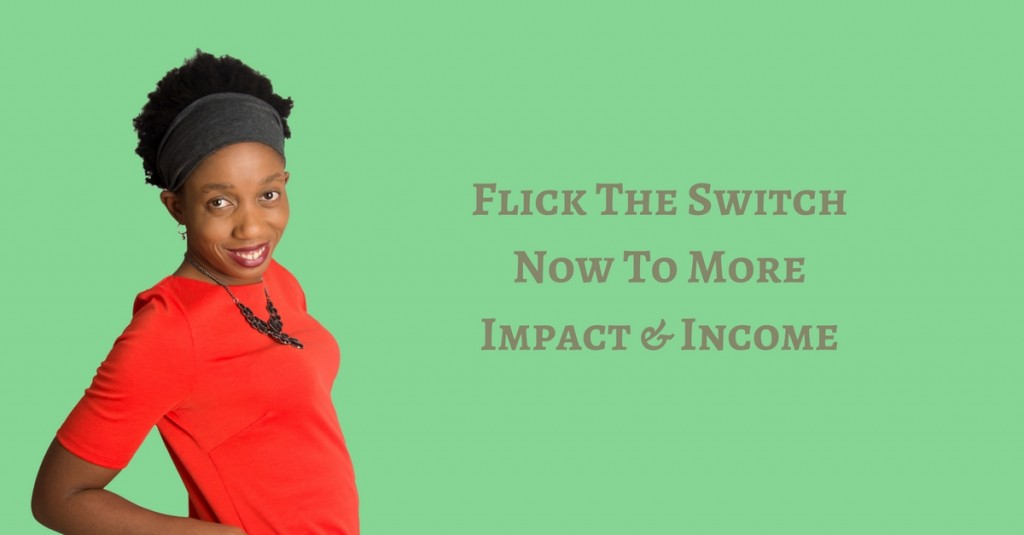 Flick The Switch Now To More Impact & Income