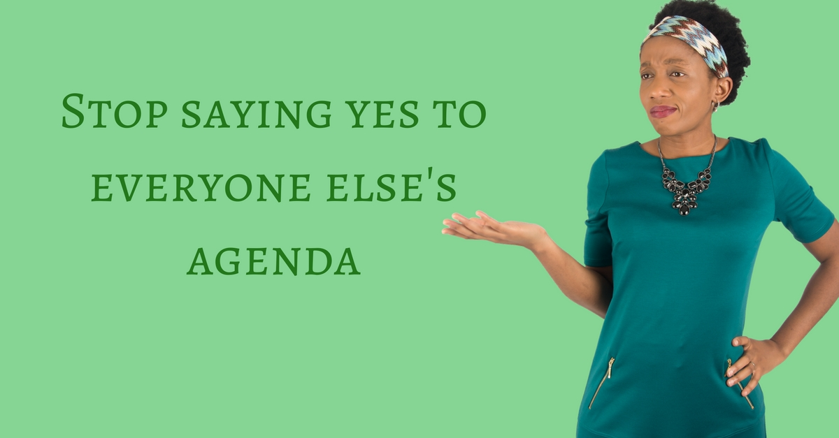 Stop saying yes to everyone else's agenda – Mp3/Video