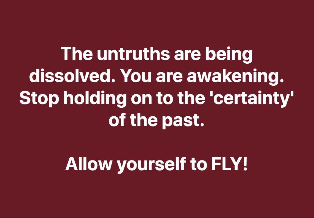 The Untruths Are Being Dissolved.  You Are Awakening