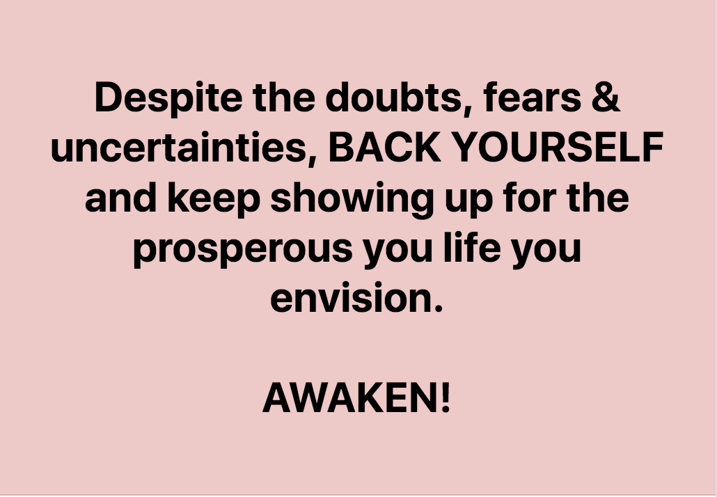 Just Back Yourself & Keep Showing Up