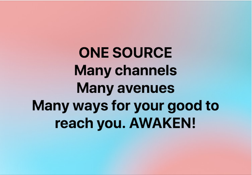 ONE SOURCE, Many channels.  TRUST