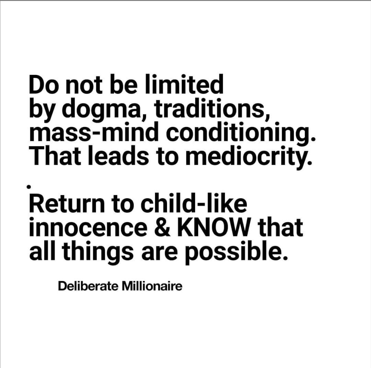 Do Not Indulge Limitation