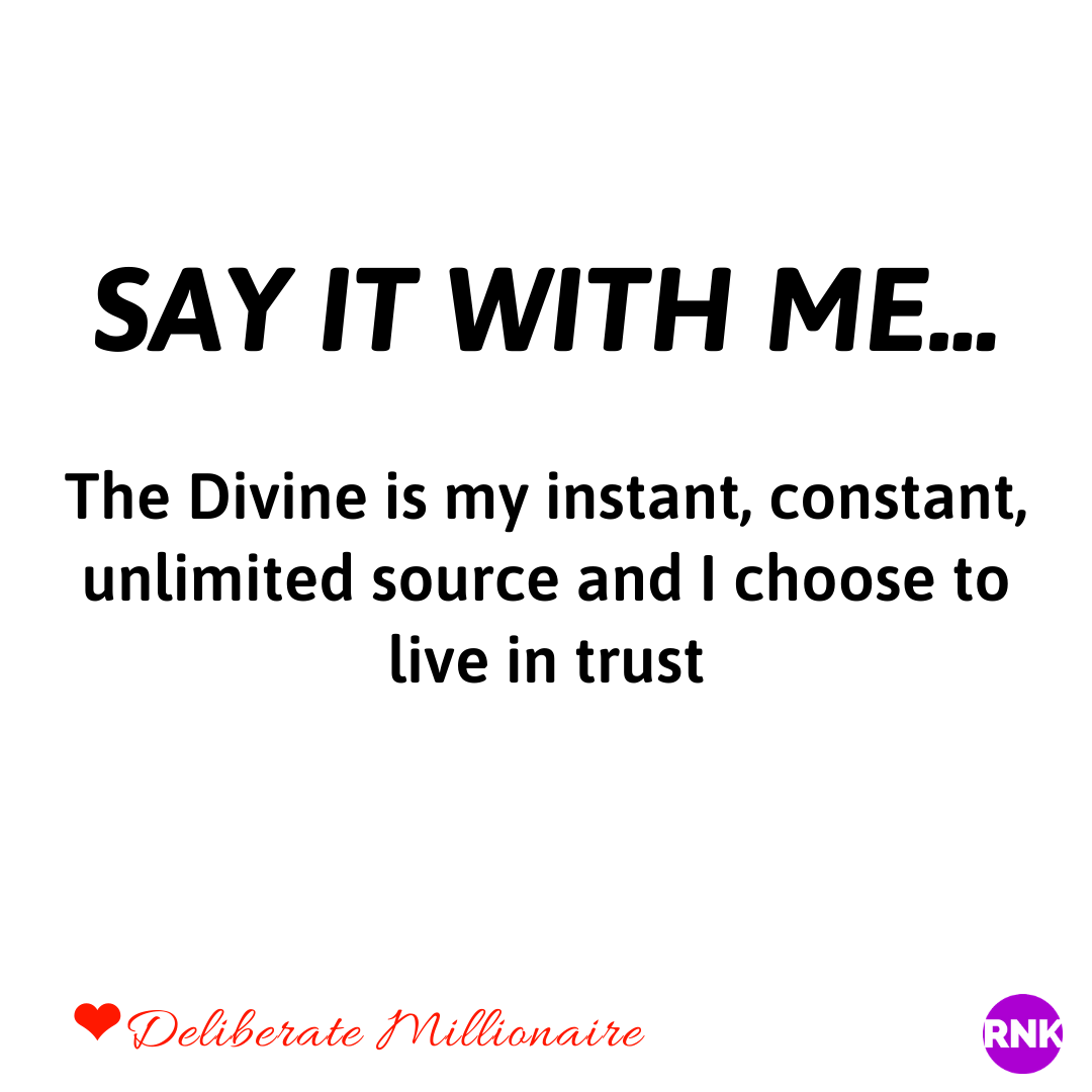 You Don't Trust The Divine To Guide You To Prosperity AND SO ALL YOU HAVE LEFT IS STRUGGLE