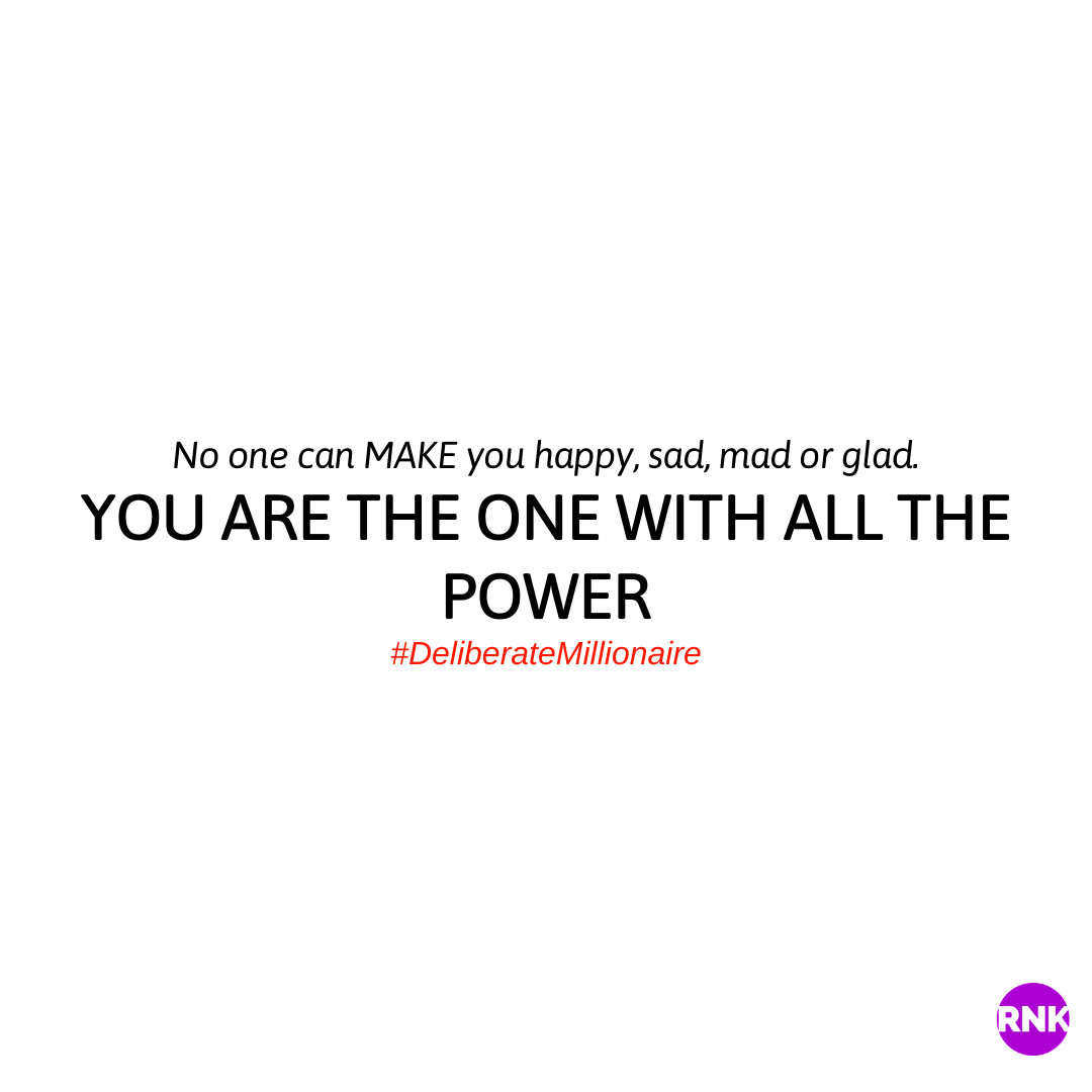 You Are The One With All The Power.  BREAK FREE!