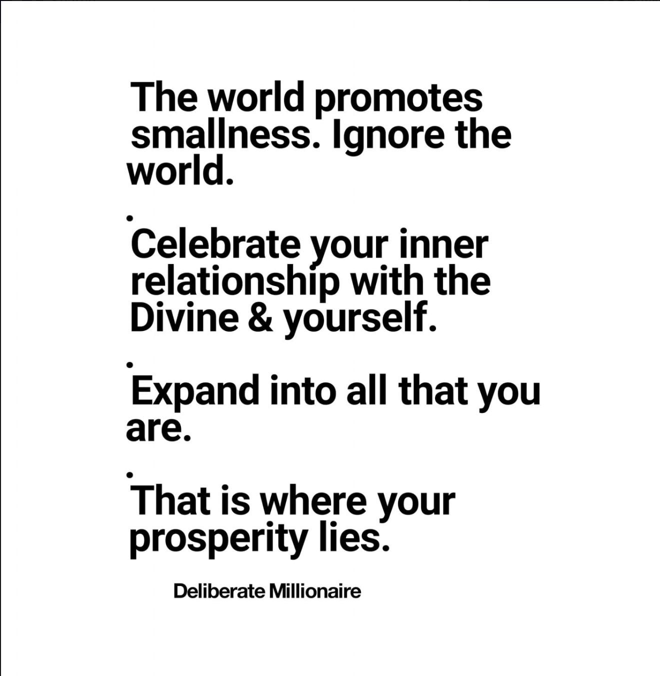 The World Celebrates Smallness – Do Not Join Them