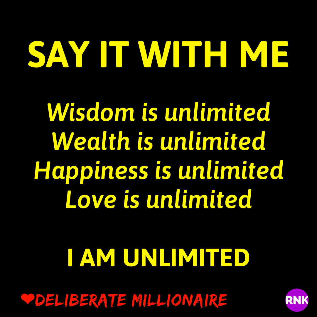You Are Unlimited.  Why Do You Insist On Being Limited?