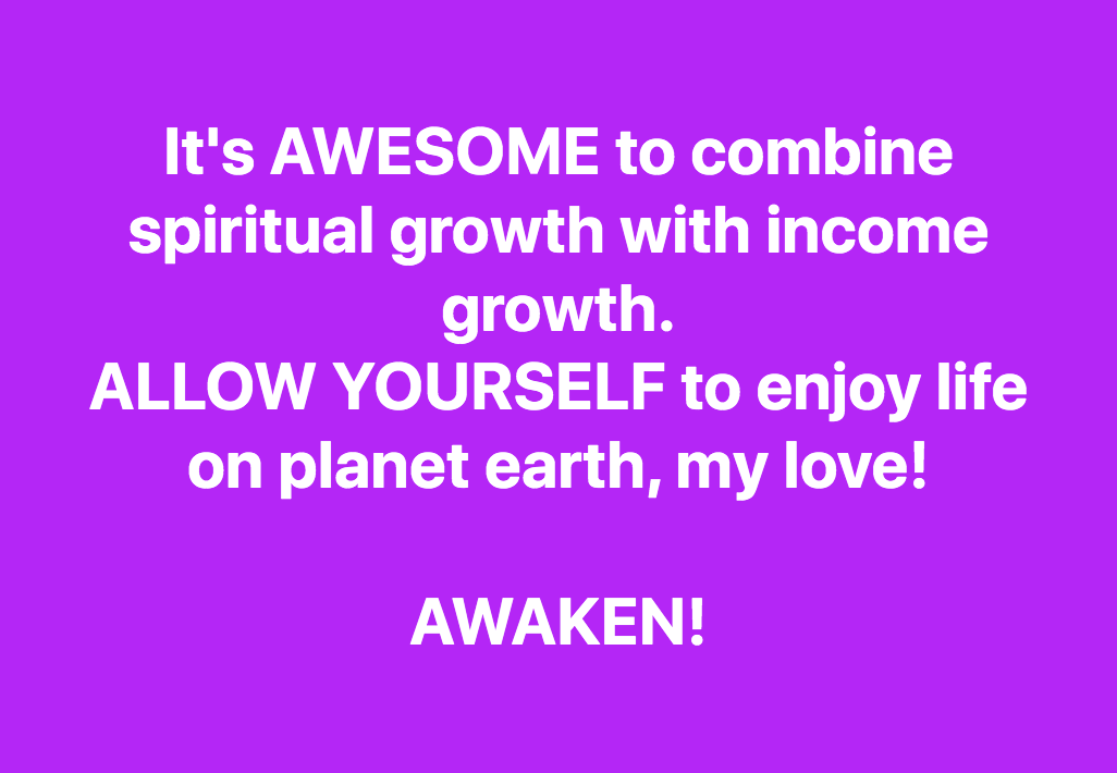 Spiritual Growth. Income Growth.  It is ALL Growth. Stop Feeling Guilty About Money!