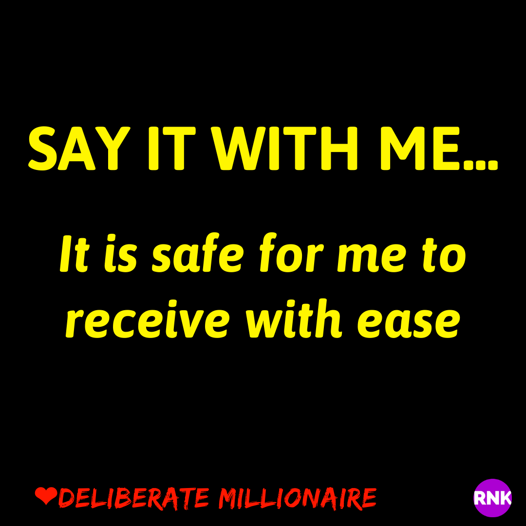 It Is Safe To Receive With Ease