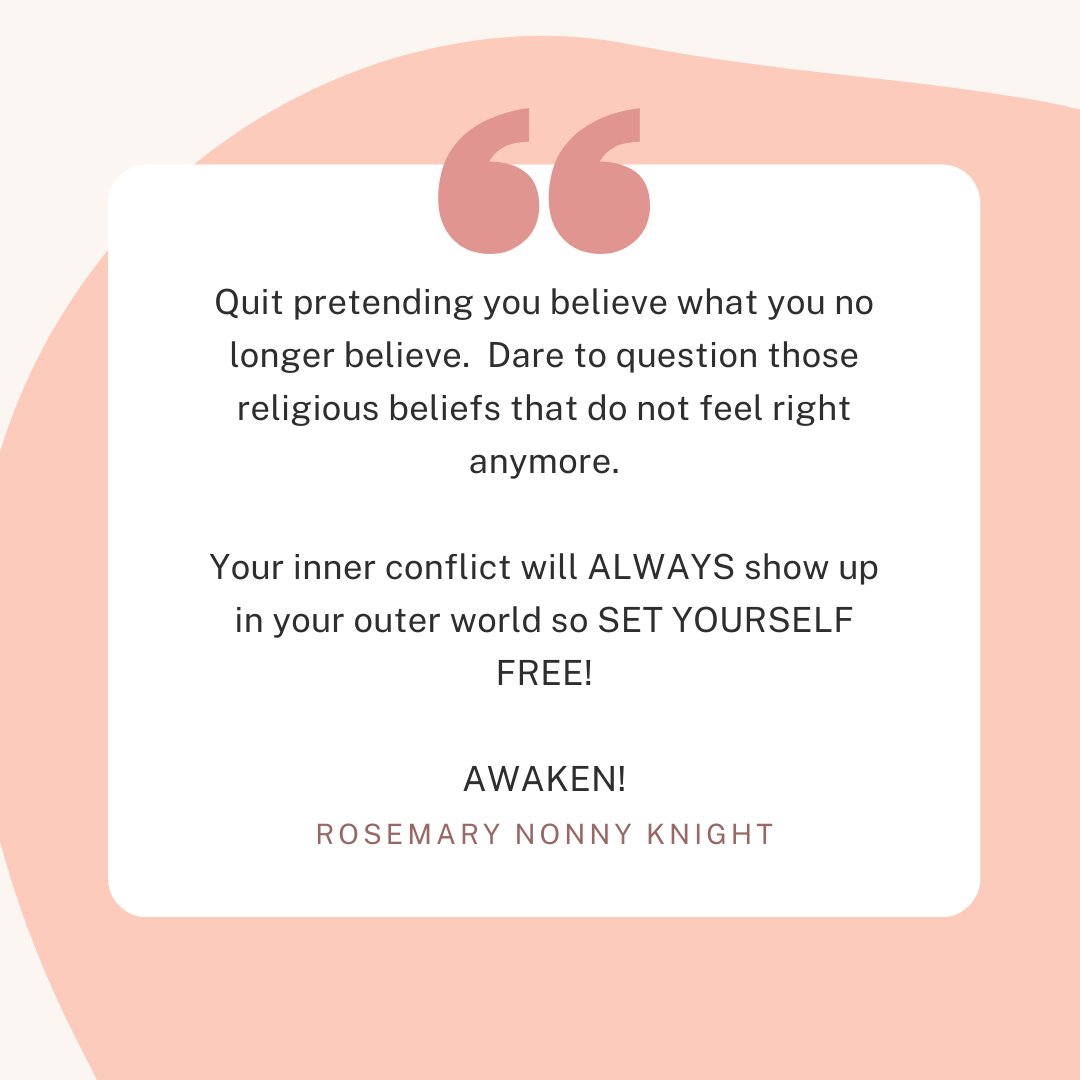 Handle Your Inner Conflict About Your Religious Beliefs & Free Yourself To Prosper